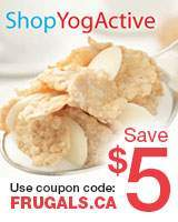 Save $5 with coupon code: FRUGALS.CA